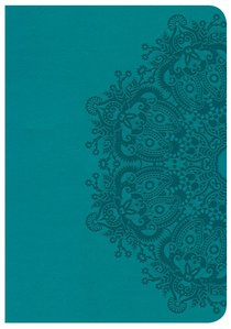 CSB Large Print Compact Reference Bible Teal Red Letter Edition