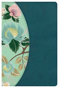 CSB Study Bible For Women Teal Flowers Indexed
