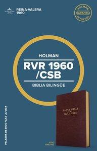 Rvr 1960/Csb Biblia Bilingue Borgoa (Csb/rvr 1960 Bilingual Bible Burgundy)