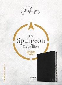 CSB Spurgeon Study Bible Black Indexed