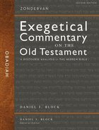 Obadiah - a Discourse Analysis of the Hebrew Bible (Zondervan Exegetical Commentary On The Old Testament Series)