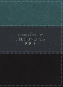 NIV the Charles F. Stanley Life Principles Bible Green/Black (Red Letter Edition)