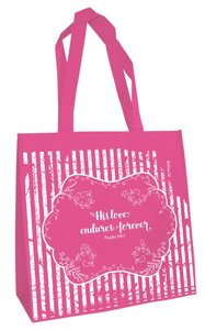Tote Bag: His Love Endures (Dark Pink)