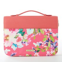 Bible Cover Choose Joy Large Fashion Pink Floral