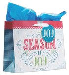 Christmas Gift Bag Large: Season of Joy With Tissue Paper, Gift Tag & Satin Ribbon Handles