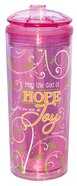 Flip Top Tumblers: May the God of Hope...Pink (Romans 15:13)