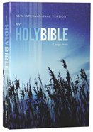 NIV Outreach Bible Large Print Blue Wheat (Black Letter Edition)