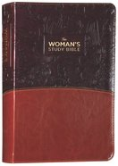 NKJV Womans Study Bible Brown/Burgundy Imitation Leather Full Color Fully Revised