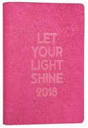 2018 Large Womens 18-Month Planner: Let Your Light Shine (Dark Pink)