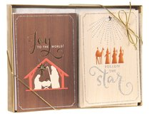 Christmas Dual Pack Boxed Cards: Joy to the World (Luke 2:10 Kjv)