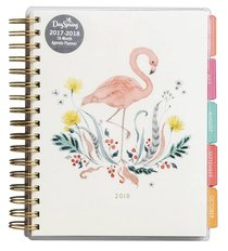 2018 Planner: Flamingo Agenda Planner 18-Month Planner (Gold Foil)