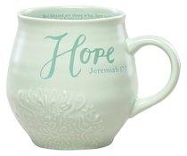 Ceramic Stoneware Mug: Hope Mint Green (Jeremiah 17:7)