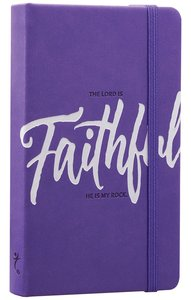 Notebook Journal: Faithful, Purple/White Luxleather
