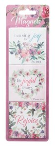 Magnet Set of 3: Rejoice Collection Floral