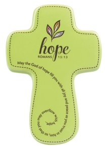 Ceramic Wall Cross: Filled With....Hope, Olive, Small (Romans 15:13)