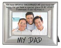 Metal Beveled Mdf Frame: My Dad, (2 Cor 7:4 & Phil 1:7)