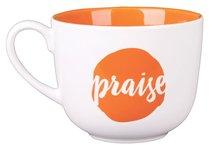 Ceramic Mug/Bowl: Praise, Orange, Large (Ps 31:21)