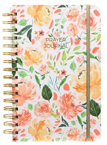 Prayer Journal: One Year Weekly Layout (Peach Floral)
