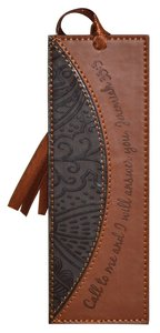 Bookmark Divine Details With Tassel: Dark Brown/Tan, Jer 33:3