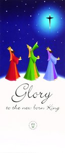 Christmas Boxed Cards Glory to the New Born King, Three Kings on Hillside