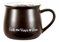 Mug: Faith, Hope & Love Black
