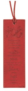 Leather Lux Bookmark: For I Know the Plans, Jeremiah 29:11, Burgundy