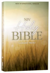 NIV Holy Bible Larger Print Nature (Black Letter Edition)