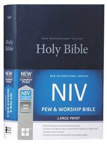 NIV Pew and Worship Bible Large Print Blue (Black Letter Edition)