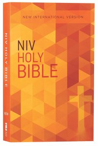 NIV Value Outreach Bible Orange Cross Geometric (Black Letter Edition)