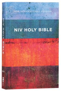 NIV Value Outreach Bible Red Blue Stripes