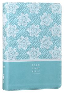 NIV Teen Study Bible French Teal (Black Letter Edition)