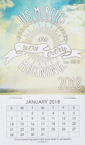 2018 Mini Magnetic Calendar: His Mercies Are New Every Morning
