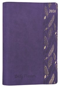 2018 Large Womens 18-Month Planner: Feathers (Purple)