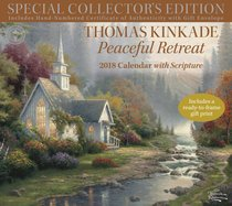 2018 Thomas Kinkade Peaceful Retreat Special Collectors Edition Wall Calendar