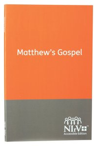 NIRV Accessible Matthews Gospel