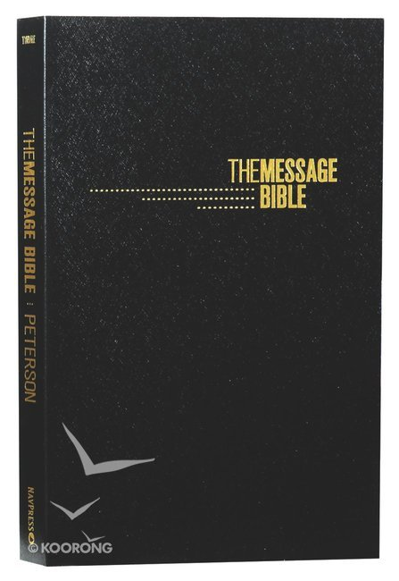 Message Gift and Award Bible Black (Black Letter Edition)
