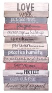 Stacked Word Wall Plaque: Love, Mdf/Paper, Medium