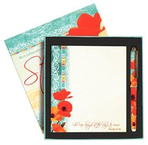 Poppies: Memo Pad & Pen Giftset, She is Strong
