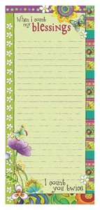 Magnetic Notepad: When I Count My Blessings, I Count You Twice