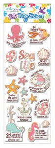 Puffy Stickers: Sea Life (1 Sheet Per Pack)