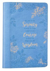 Classic Journal: Serenity Prayer... Blue Floral Luxleather