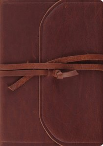 ESV Journaling Bible Interleaved Edition Brown Flap With Strap (Black Letter Edition)
