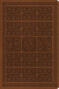 ESV Value Compact Bible Brown Joy Woodcut Design (Black Letter Edition)