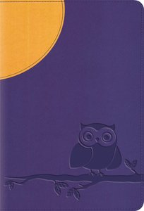 ESV Large Print Compact Bible Moonlight Owl Red Letter Edition