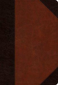 ESV Large Print Compact Bible Brown/Cordovan Portfolio Design