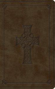 ESV Vest Pocket New Testament With Psalms and Proverbs Olive Celtic Cross Design (Black Letter Edition)