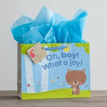 Gift Bag Large: Oh, Boy! What a Joy! (Incl Tissue Paper & Gift Tag)