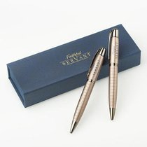 Ballpoint Pen Set in Gift Box: Faithful Servant (Navy/brown)