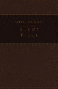 NKJV Apply the Word Study Large Print Bible Brown (Red Letter Edition)