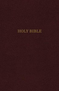 KJV Reference Bible Indexed Personal Size Giant Print Burgundy Red Letter Edition